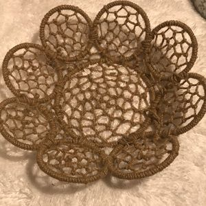 Woven and Wire Basket Rustic Farmhouse